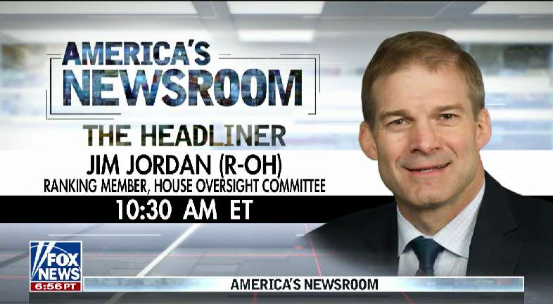 THE HEADLINER: @Jim_Jordan joins us at 10:30 AM EST #nine2noon