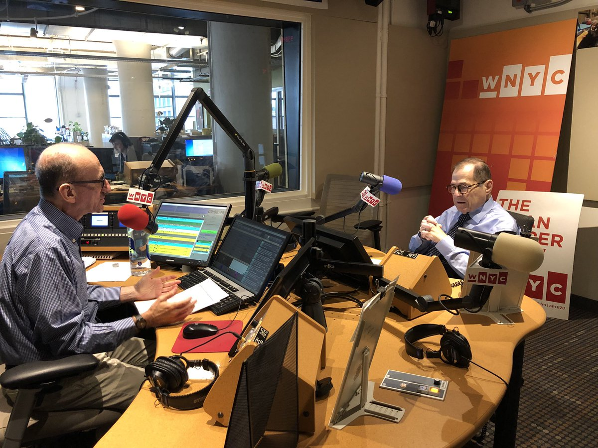 Joining @BrianLehrer live on @WNYC right now to discuss everything from gun violence prevention to impeachment. Tune in 📻