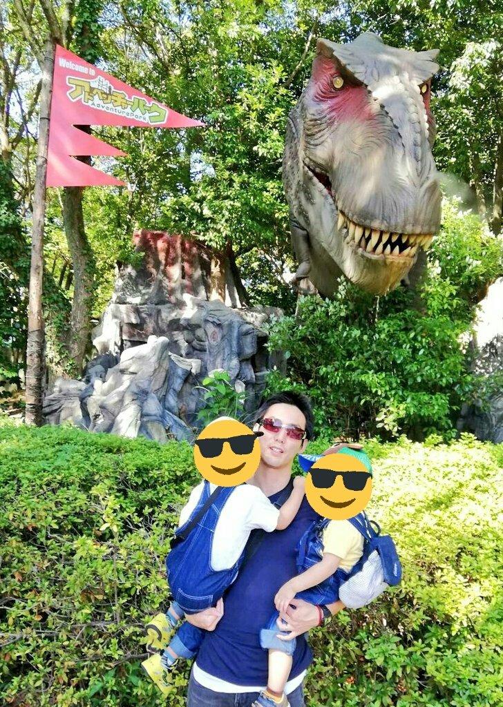 ラジオ終了後、そのまま長崎へ⛵ 恐竜に襲われたり、純金盗みたい衝動に駆られたり、危うく豚になりかけたり、特車二課第二小隊に入隊したりしたけど 楽しい旅行になりました✨ #ハウステンボス #恐竜の森 #黄金の館 #鈴木敏夫とジブリ展  #パトレイバー