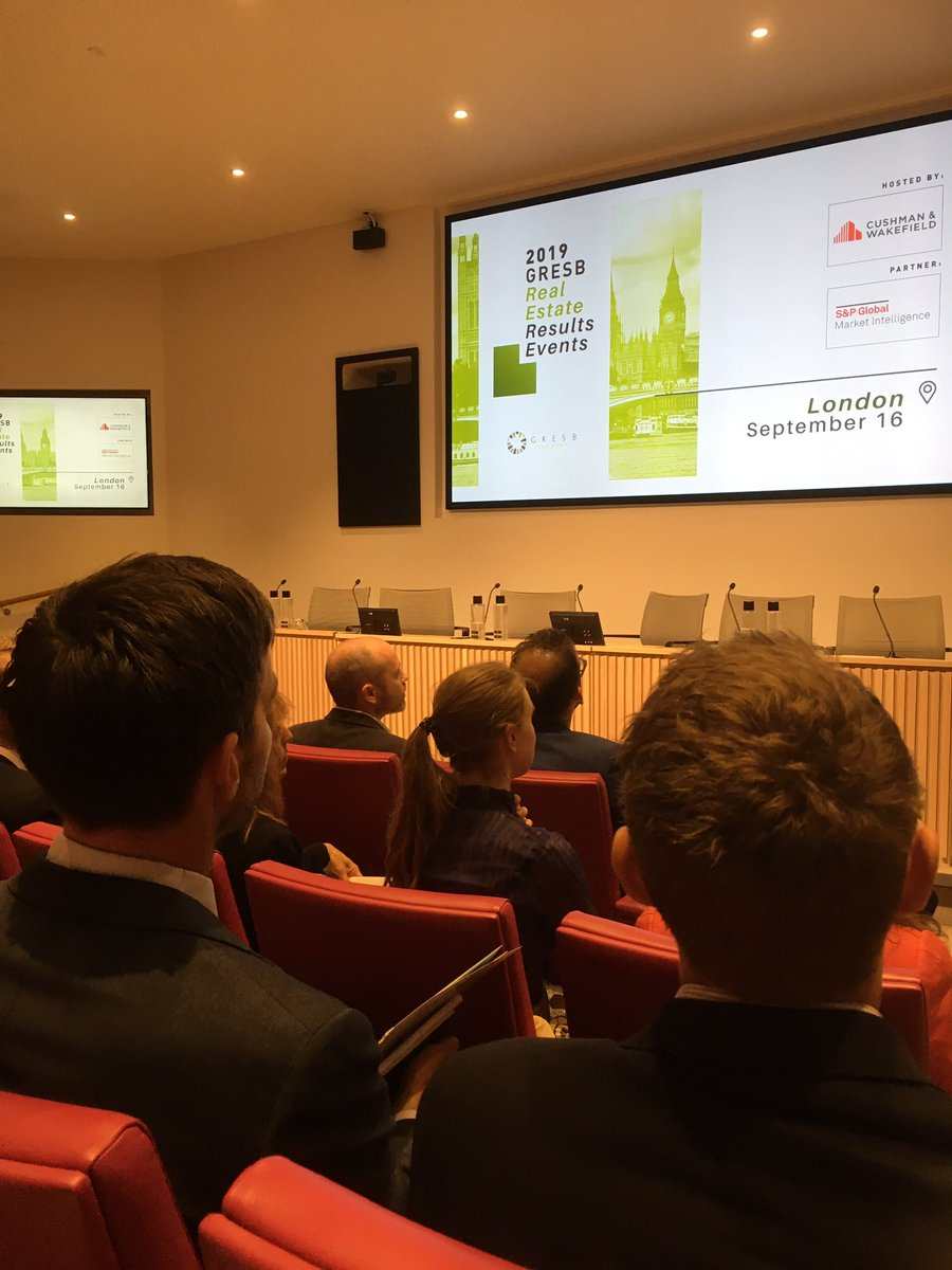 'There's a step change in the relationship between landlord and tenant' - @CushWakeUK Andrew Baker introducing @GRESB 2019 results