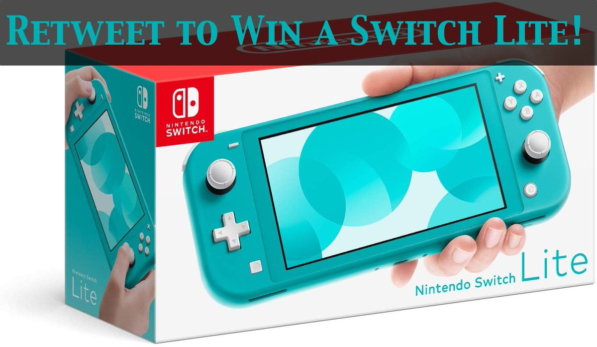 We are giving away a Turquoise Switch Lite to someone who retweets this tweet by Friday! RT for your chance to win a brand new Switch Lite on us! (You must follow us so we can DM you if you win) #NintendoSwitchLite #Giveaway #NintendoSwitch