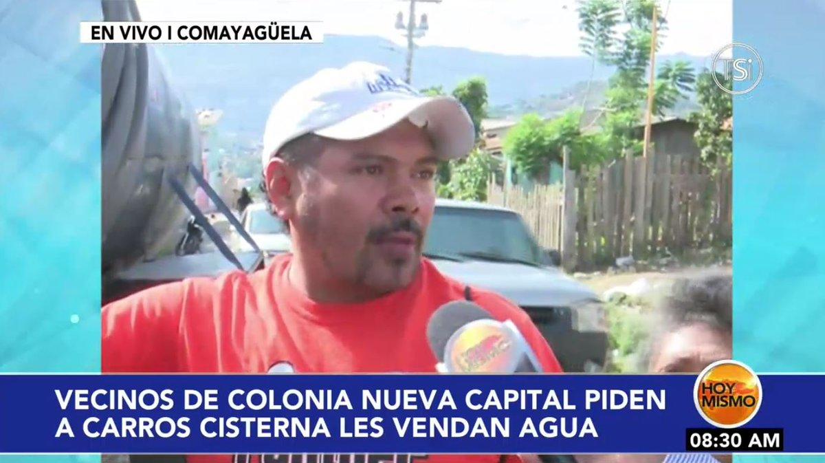 [EN VIVO] 🔴 |AHORA en #HoyMismo #PrimeraEdición, vecinos de la col. Nueva Capital en Comayagüela, piden a carros cisternas les vendan agua potable.  Por la señal de @TSiHonduras y http://www.televicentro.hn/envivo