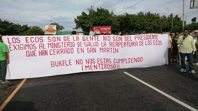 Exigen a Bukele apertura de ECOS cerrados en San Martín
