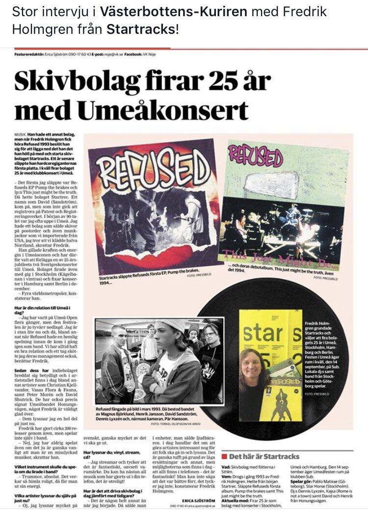 Gjorde press när jag var Umeå
