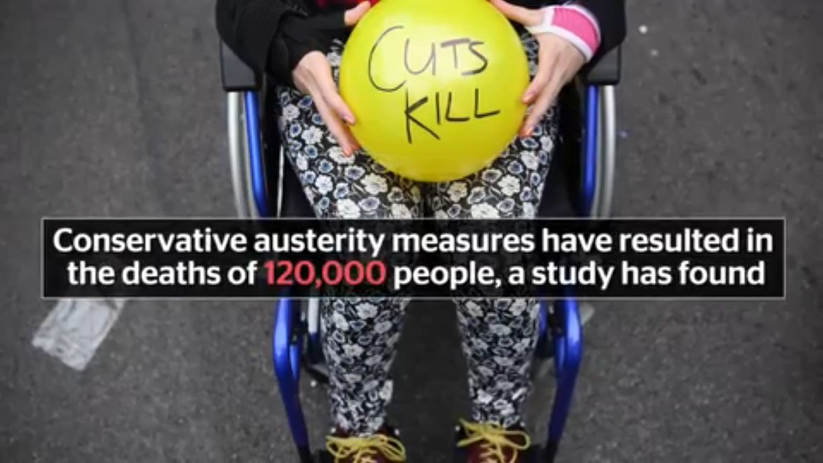 A landmark @BMJ_Open study in 2017 linked @Conservatives & @LibDems austerity to 120,000 deaths - forecasting a rise to 200,000 by 2020. The authors accuse them of economic murder and causing a public health disaster independent.co.uk/news/health/to… #VoteLabour