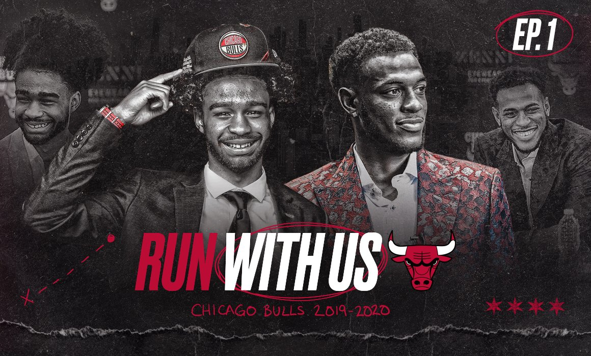 It's starting to get to that time…  Get a look behind the scenes as the Bulls go through the draft process and introduce rookies @CobyWhite and @Dan_G33 to the team and city in the debut episode of #RunWithUs Season 3.  Presented by @ZenniOptical: