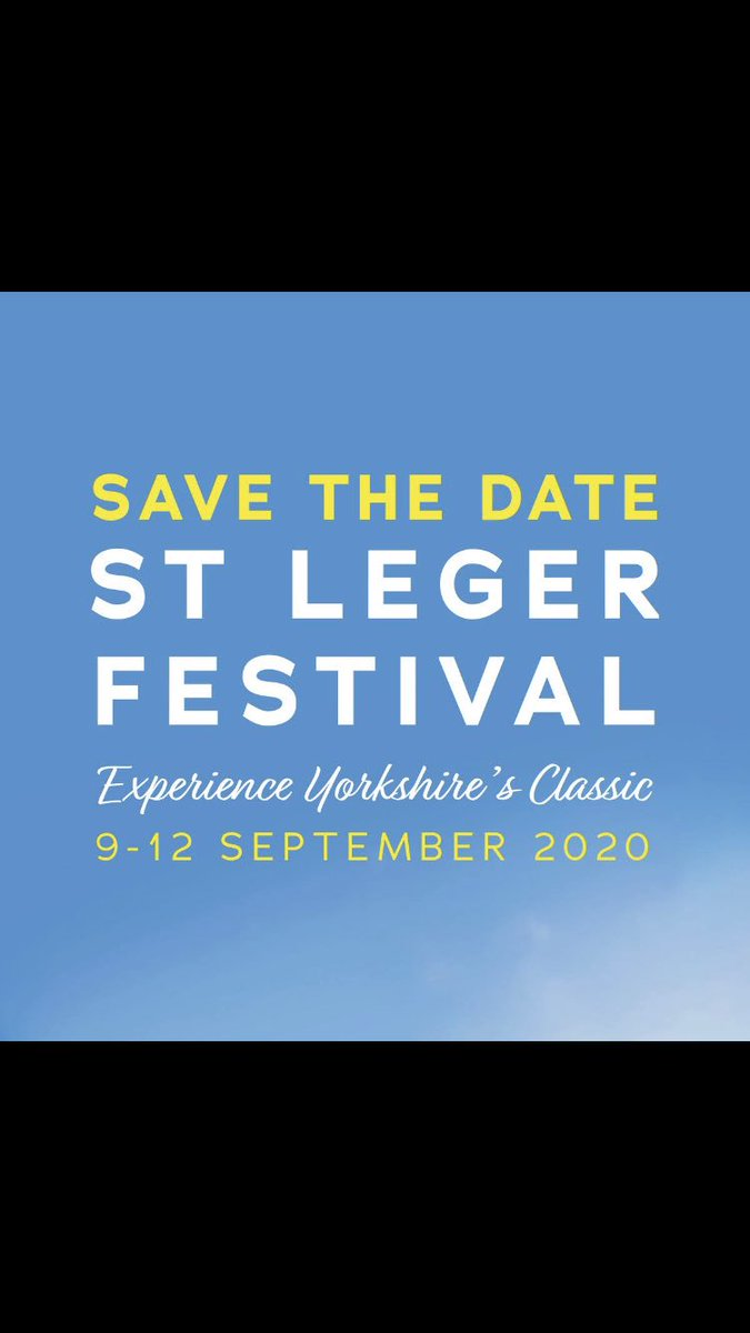 Diary date for next year....@YorkshireAirAmb St Leger day @DoncasterRaces will be Friday 11th September 2020.  Bookings already being taken, to reserve your table contact k.collinson@yaa.org.uk