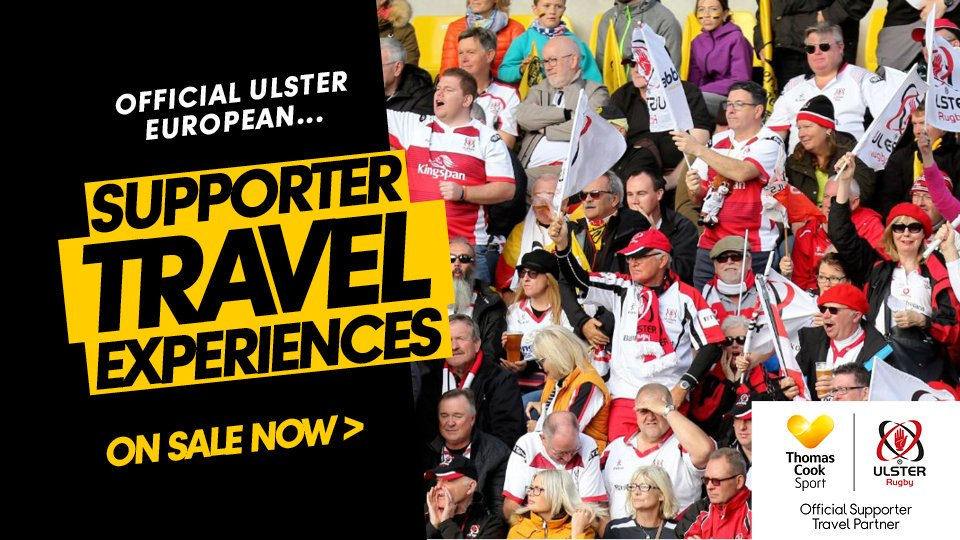 Planning a big away day to watch @UlsterRugby in the #HeinekenChampionsCup? There's no better way to go than with an official supporter travel experience. Fly out with the team and soak up the atmosphere at the match with fellow fans! ➡️https://t.co/vvwb4oTqDk #SUFTUM #rugby https://t.co/0r6GvfUuBq