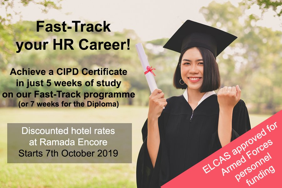 Get onto the HR career ladder with a @CIPD qualification in just 5 weeks! ELCAS approved for Armed Forces personnel funding. bit.ly/34dCE00