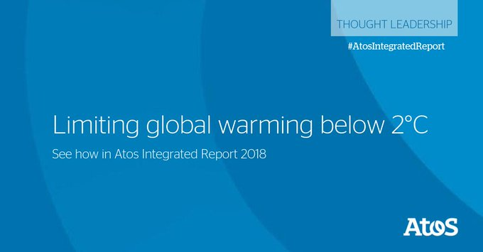 Atos contributes to the global effort to limit global warming below 2°C! Learn more...