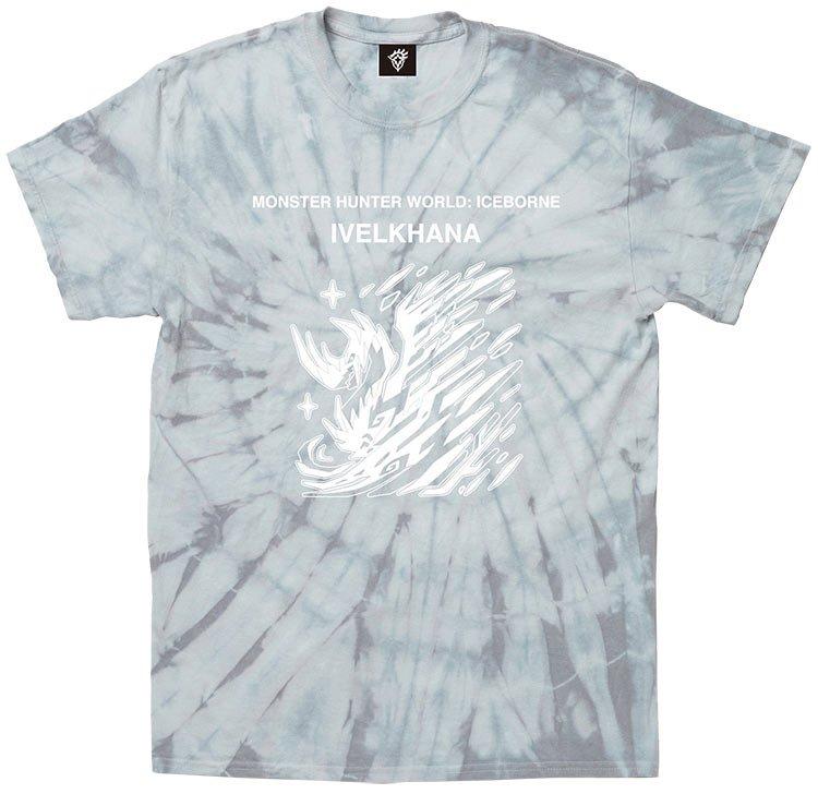 タイダイ(絞り)染めのボディを使った『モンスターハンターワールド:アイスボーン』のTシャツが登場!「イヴェルカーナ」と「ネルギガンテ」のモンスターアイコンをプリントしたシンプルなデザインなので、普段使いのTシャツとしても着回せます! #MHWアイスボーン