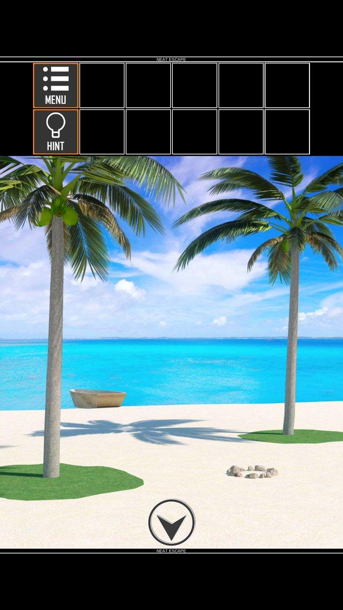 脱出ゲーム 無人島漂流者2【Android版】リリースしました😊Googlplay➡#脱出ゲーム #NEATESCAPE
