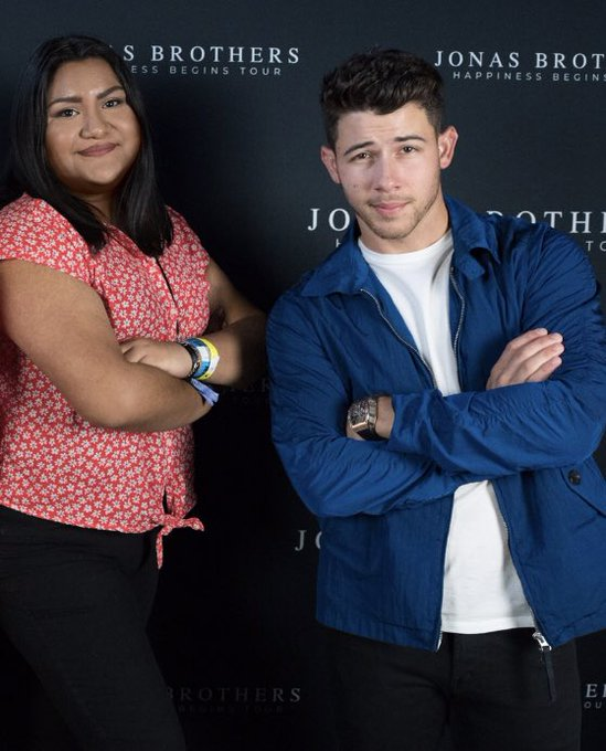 Happy Birthday to Nick Jonas!! Here s  him & I hanging out a couple days ago