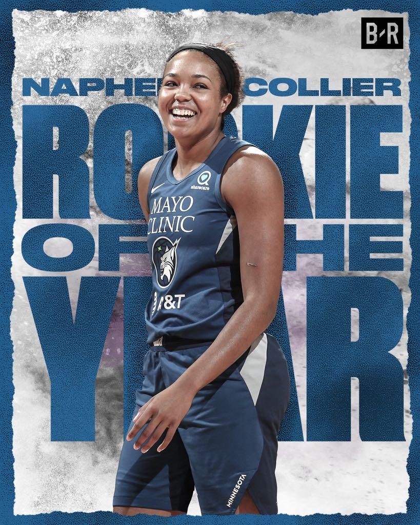 Minnesota Lynx's Napheesa Collier wins WNBA Rookie of the Year  ⭐ 13.1 PPG ⭐ 6.6 RPG ⭐ 2.6 APG