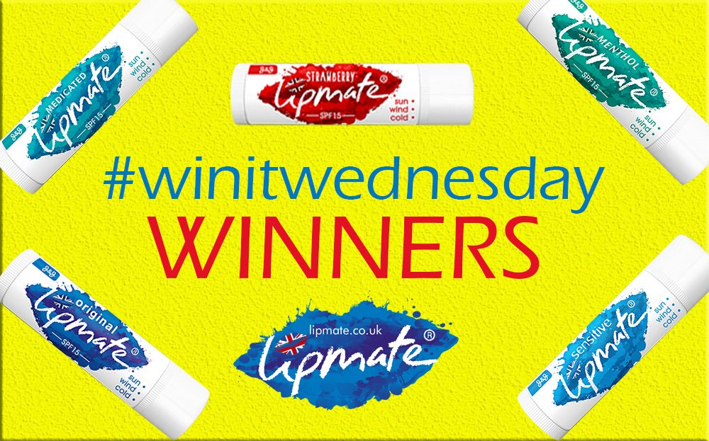 Congratulations to last weeks #winitwednesday  winners @CatLoverHolly2  and @LeinadDOP80  !   More chances to win coming soon. 💋