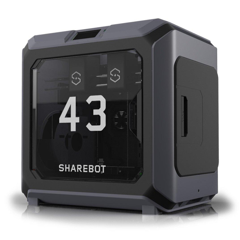 💥𝟰𝟮 + 𝟭 = 𝟰𝟯💥 L'attesa è finita, ecco a voi 𝗦𝗵𝗮𝗿𝗲𝗯𝗼𝘁 𝟰𝟯, stampante 3D a 𝗱𝗼𝗽𝗽𝗶𝗼 𝗲𝘀𝘁𝗿𝘂𝘀𝗼𝗿𝗲 𝗶𝗻𝗱𝗶𝗽𝗲𝗻𝗱𝗲𝗻𝘁𝗲. La risposta professionale al mondo della stampa 3D.   🌐 ➡️  #Sharebot #DualExtruder