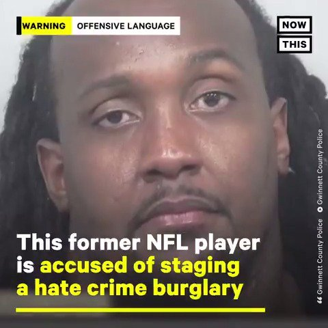 This former NFL player is accused of staging a hate crime