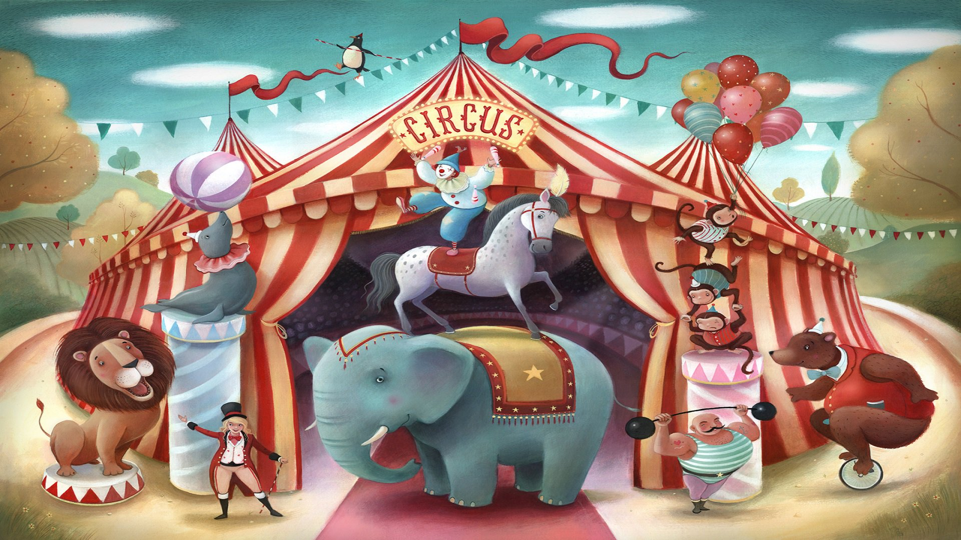 цирк картинки фоны