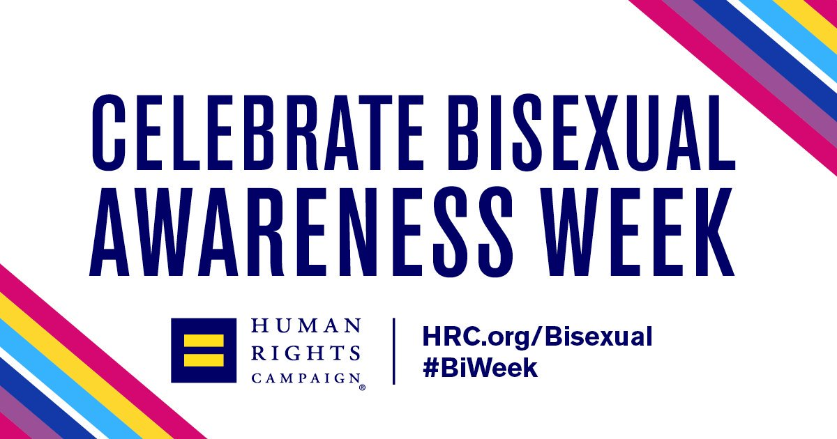 💖💖💖💖💖 💜💜💜💜💜 💙💙💙💙💙 It's officially #BiWeek, and we're celebrating visi𝐁𝐈lity. hrc.org/blog/biweek-ce…