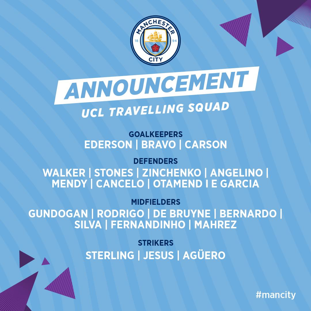Our 23 man shortlist travelling to Ukraine!   Mendy and Eric Garcia included   #ManCity <br>http://pic.twitter.com/F6BrANxkCE