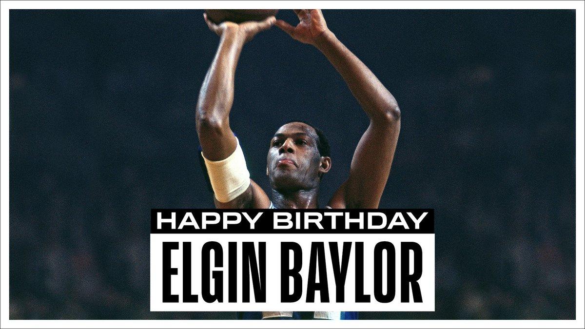 Join us in wishing a Happy 85th Birthday to 11x #NBAAllStar, 10x All-NBA & @hoophall inductee, Elgin Baylor! #NBABDAY