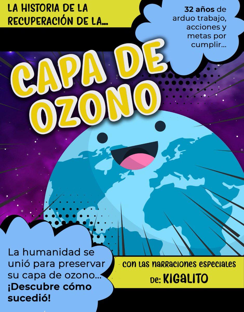 #COMUNICADO: ¡Hoy se cumplen 32 años desde que se realizaron acciones para preservar la #CapaDeOzono! 🌎👉🏽http://bit.ly/2LwZqc7🔸Conoce la historia completa presentada por Kigalito en este cómic. #DíaInternacionalDeLaCapaDeOzono #OzoneDay  👇🏽👇🏽👇🏽