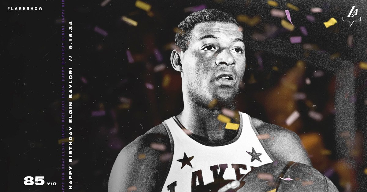 Happy birthday to L.A.'s first hoops superstar, the iconic Elgin Baylor 🌟🎂