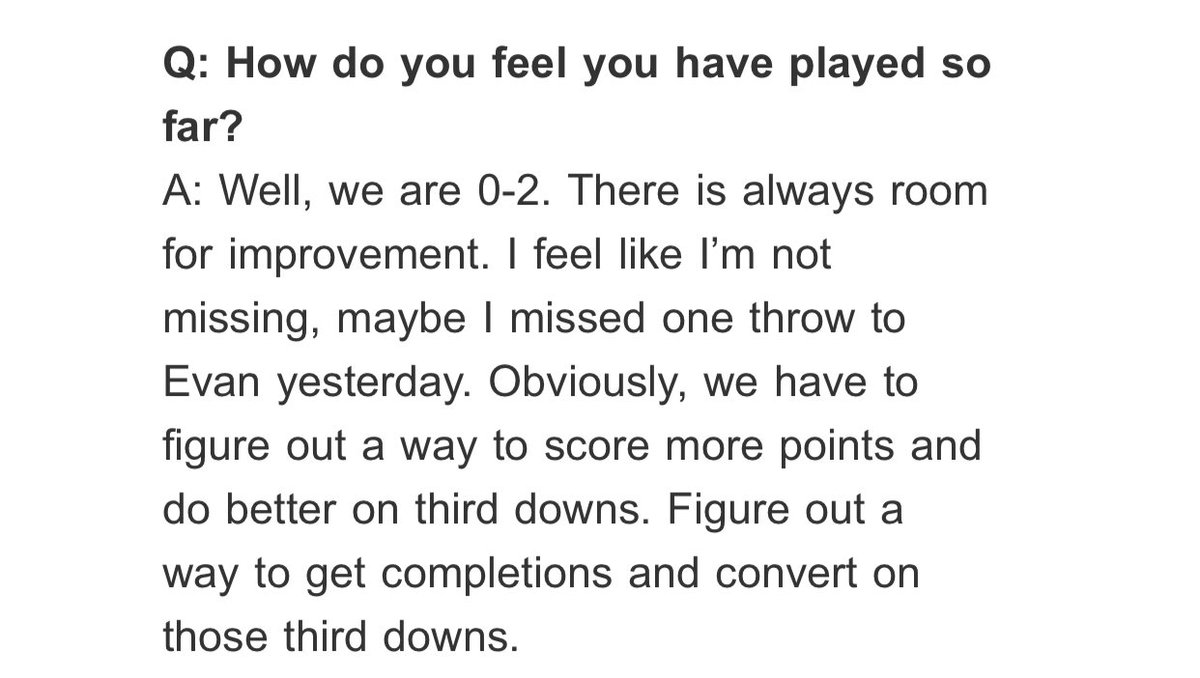"""Maybe I'm just parsing words but I thought this was a telling answer from Eli Manning when I saw the clip earlier. """"I'm not missing throws"""" = """"Nobody's open."""" Problem is, even if he's right, at some point it's gonna be time because, well, it's time. https://t.co/IeQ0oHiIXy"""