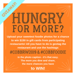 Dining out this weekend? Patron one of the 18 restaurants participating in Cobb Restaurant Week 2019 and share your experience on social media using #CobbRW2019 and #CobbFoodie for a chance to win $150 in gift cards!  🏆🥇🐥🍽!