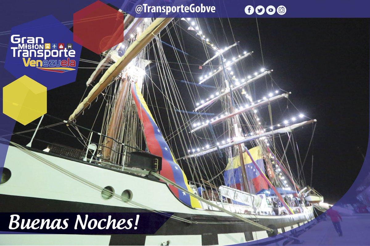 En @TransporteGobVe, de la mano del Min. @tupamarohipolit les desea buenas noches, ¡mañana será un gran día para continuar con la gran labor de la Misión Transporte! __ #GranMisiónTransporteVenezuela