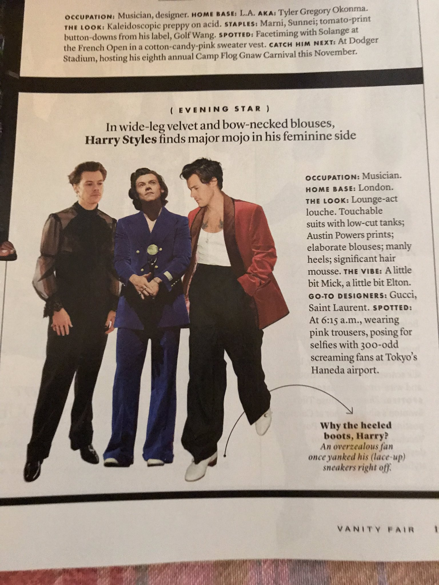 Karen On Twitter Just Got The October Issue Of Vanity Fair And Harry Made The Vanity Fair Best Dressed List No Surprise There