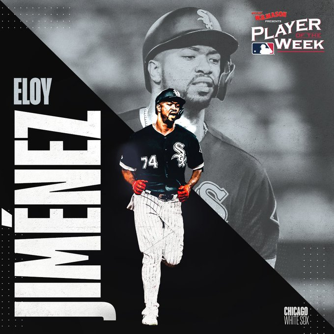And you say Chi City! Eloy Jiménez & Kris Bryant are your Players of the Week.   (MLB x @WBMasonCo
