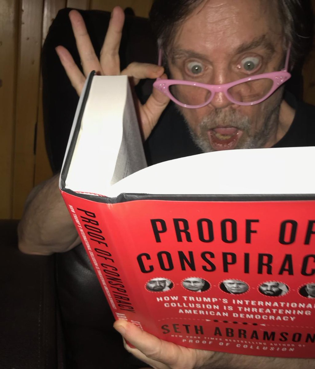 In PROOF OF CONSPIRACY @sethabramson expertly details the Russian attack on our 2016 election. It was unprecedented, thorough & most importantly-ONGOING as they actively attempt to re-elect Individual 1 in 2020, who welcomes their support. (pink specs courtesy @RandyRainbow)