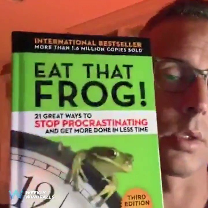 Image for the Tweet beginning: Eat That Frog! by @BrianTracy  Add