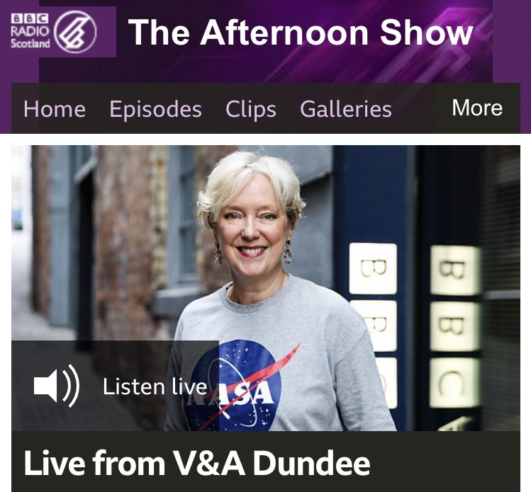 That's all from us here at the @VADundee! If you missed any of today's show, don't fret! Click the link or head over to @BBCSounds 📻 https://www.bbc.co.uk/programmes/m0008h2w…