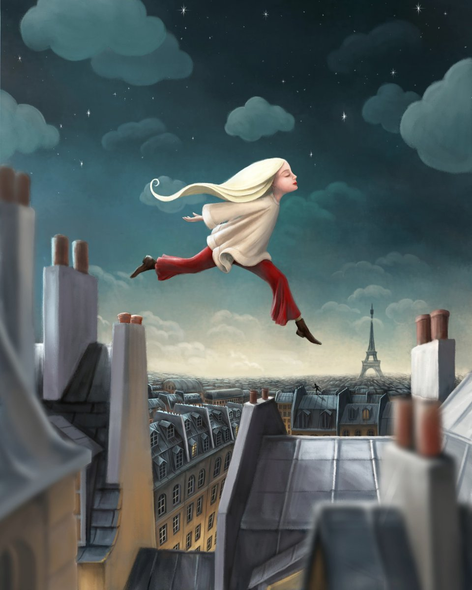 Some night time roof jumping. #rooftoppers #illustration #parispic.twitter.com/aL488jRWXH