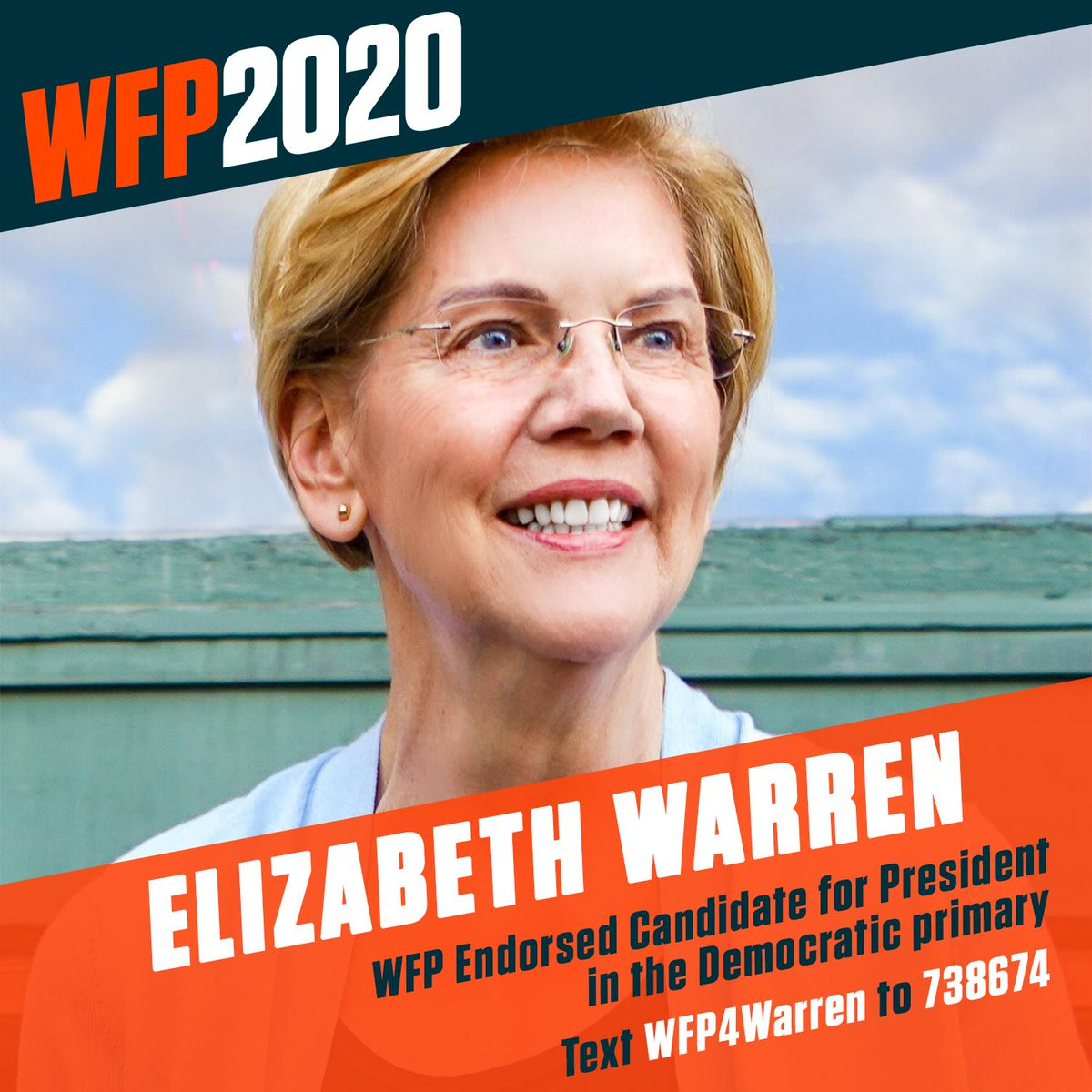 The Working Families Party is proud to announce our endorsement of @ewarren for president in the Democratic primary. #WFP2020 #WFP4Warren https://t.co/HnVofql6Xp