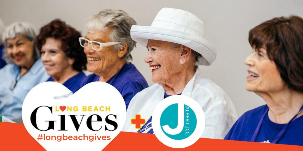 Give every day thru 9.19.19 to @alpertjcc w/ https://t.co/z3Y0DcIrwj! #AJCC provides programs for all ages & an appreciation of Jewish values. Their #LongBeachGives focus is seniors, who can come to 'the J' to share a meal with others, sing & join the happiness & humor group.