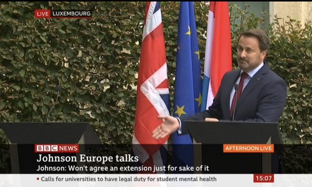 I swear, after that stunt from Luxembourg's PM, I've never wanted a no-deal Brexit more than I do now. <br>http://pic.twitter.com/qvjsFOpwsm