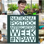 Image for the Tweet beginning: It's #PostdocAppreciationWeek! Thanks to our