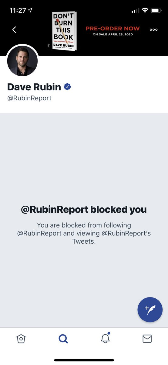 It's an end of an era. Now that Dave Rubin has joined Glenn Beck's company and come out as a right wing propagandist, he has blocked me. I was critical, but always polite, with Dave. He would rudely rebut my critique in public, often TPUSA events, without actually engaging. Sad!