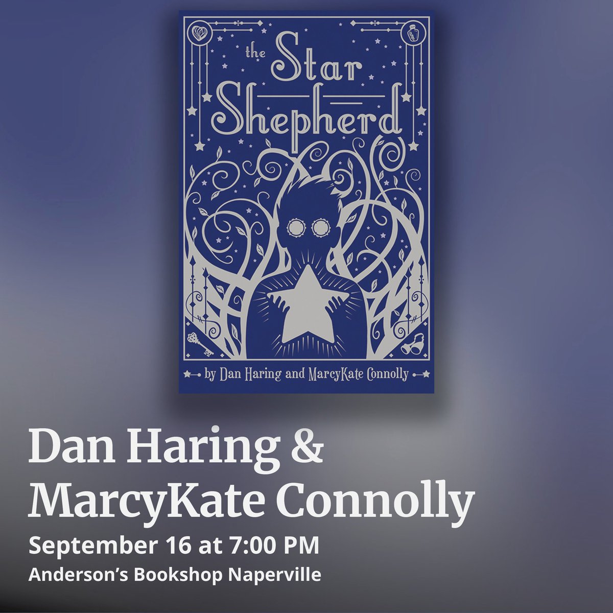 Visit our #Naperville store tonight to meet Marcy Kate Connelly @MarcyKate & Dan Haring @danharing with their new book #TheStarShepard, an Andersons staff pick! andersonsbookshop.com/event/dan-hari…