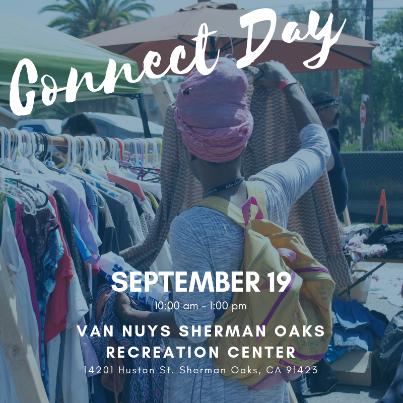 Our next Connect Day is this Thursday, September 19 from 10:00 am - 1:00 pm. This is a good opportunity for people looking for housing and homeless support to connect and find the resources they need. Learn more at http://lafh.org/connect-to-services….