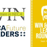 The Women In NECA and Future Leaders Roundtable will be today from 2-4 p.m., followed by a joint reception sponsored by NECA Premier Partner @Graybar #NECA19 #WINwithFutureLeaders