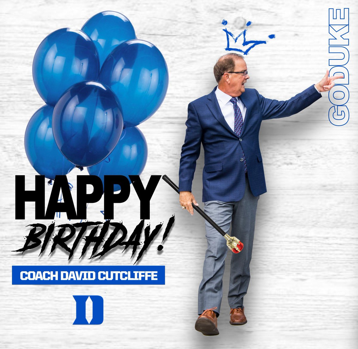 Happy Birthday Coach Cut! #DukeGang