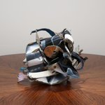 Image for the Tweet beginning: John Chamberlain's small-scale sculptures are