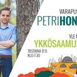 Image for the Tweet beginning: Tuore varapuheenjohtajamme @HonkonenPetri@yleradio1:llä ti klo