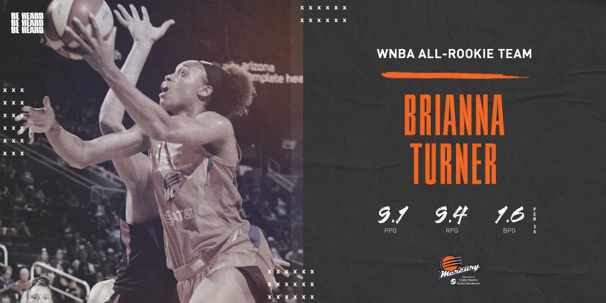 .@_Breezy_Briii becomes the 5th Mercury player named to the @WNBA All-Rookie Team!  #BeHeard