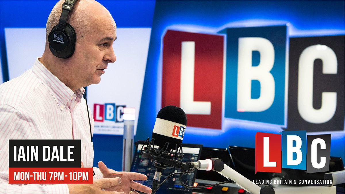 Coming up on Iain Dale in the Evening from 7pm... 7pm LBC Newshour 8pm Monday night panel with @DavidGauke @wesstreeting @PeterBoneUK & @BrexitAlex 9pm Phone-in. Subject tbc.