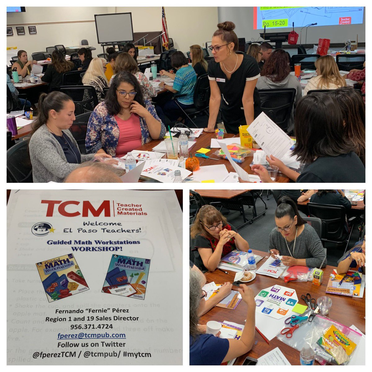Great start to the week with @ELPASO_ISD @EPISDDoDEA2017 schools working with #Elemteachers further enhancing their knowledge of #guidedmath #workstations with @lisacallahan9 #mytcm #iamEPISD<br>http://pic.twitter.com/Prub6p8hmq – à Professional Development Center